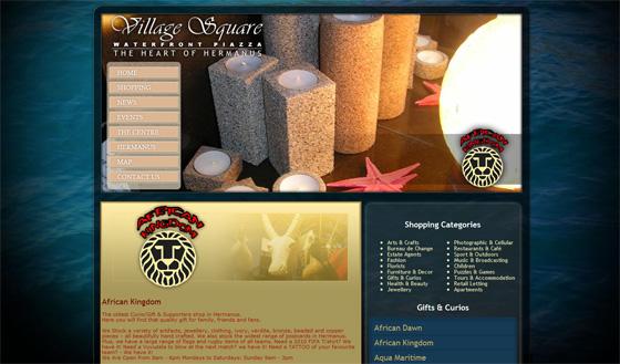 Village Square Hermanus shop - African Kingdom
